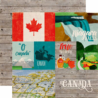 Echo Park - Around The World Collection - 12 x 12 Double Sided Paper - Canada
