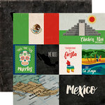 Echo Park - Around The World Collection - 12 x 12 Double Sided Paper - Mexico