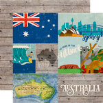Echo Park - Around The World Collection - 12 x 12 Double Sided Paper - Australia