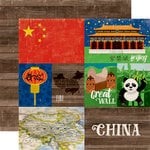 Echo Park - Around The World Collection - 12 x 12 Double Sided Paper - China
