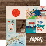 Echo Park - Around The World Collection - 12 x 12 Double Sided Paper - Japan