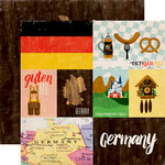 Echo Park - Around The World Collection - 12 x 12 Double Sided Paper - Germany