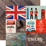 Echo Park - Around The World Collection - 12 x 12 Double Sided Paper - England