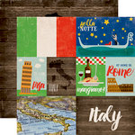 Echo Park - Around The World Collection - 12 x 12 Double Sided Paper - Italy