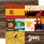 Echo Park - Around The World Collection - 12 x 12 Double Sided Paper - Spain