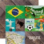 Echo Park - Around The World Collection - 12 x 12 Double Sided Paper - Brazil