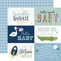 Echo Park - Baby Boy Collection - 12 x 12 Double Sided Paper - 6 x 4 Journaling Cards
