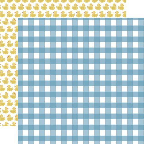 Echo Park - Baby Boy Collection - 12 x 12 Double Sided Paper - Boy Gingham