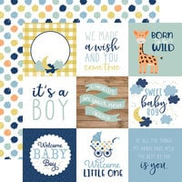 Echo Park - Baby Boy Collection - 12 x 12 Double Sided Paper - 4 x 4 Journaling Cards
