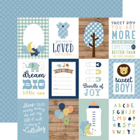 Echo Park - Baby Boy Collection - 12 x 12 Double Sided Paper - 3 x 4 Journaling Cards
