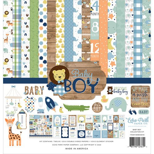 Echo Park - Baby Boy Collection - 12 x 12 Collection Kit