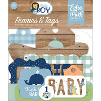 Echo Park - Baby Boy Collection - Ephemera - Frames and Tags