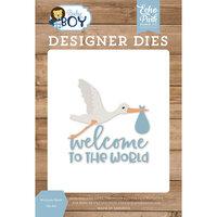 Echo Park - Baby Boy Collection - Designer Dies - Welcome Stork
