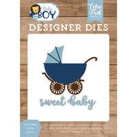 Echo Park - Baby Boy Collection - Designer Dies - Sweet Baby Stroller