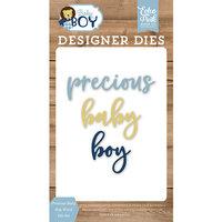 Echo Park - Baby Boy Collection - Designer Dies - Precious Baby Boy Word