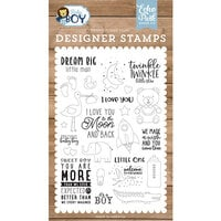 Echo Park - Baby Boy Collection - Clear Photopolymer Stamps - Dream Big Little Man