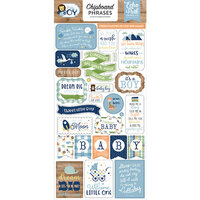 Echo Park - Baby Boy Collection - Chipboard Stickers - Phrases