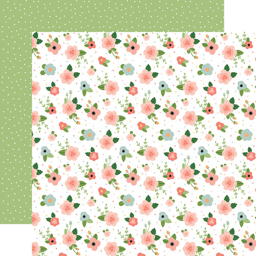 Echo Park - Baby Girl Collection - 12 x 12 Double Sided Paper - Newborn Floral