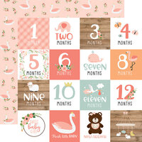 Echo Park - Baby Girl Collection - 12 x 12 Double Sided Paper - Milestone Cards