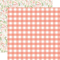 Echo Park - Baby Girl Collection - 12 x 12 Double Sided Paper - Girl Gingham