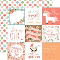 Echo Park - Baby Girl Collection - 12 x 12 Double Sided Paper - 4 x 4 Journaling Cards