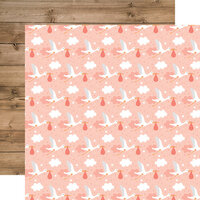 Echo Park - Baby Girl Collection - 12 x 12 Double Sided Paper - Little One