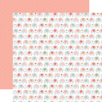 Echo Park - Baby Girl Collection - 12 x 12 Double Sided Paper - Sweet Elephants