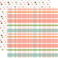 Echo Park - Baby Girl Collection - 12 x 12 Double Sided Paper - New Arrival Plaid