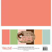 Echo Park - Baby Girl Collection - 12 x 12 Solids Paper Pack