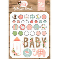 Echo Park - Baby Girl Collection - Self-Adhesive Decorative Brads
