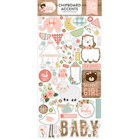 Echo Park - Baby Girl Collection - Chipboard Stickers - Accents