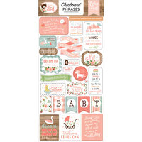 Echo Park - Baby Girl Collection - Chipboard Stickers - Phrases