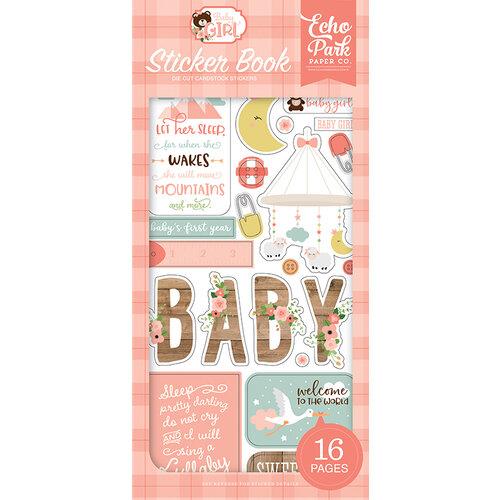 Echo Park - Baby Girl Collection - Cardstock Sticker Book