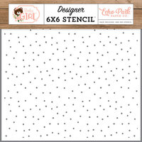 Echo Park - Baby Girl Collection - 6 x 6 Stencil - Sweet Girl Dot