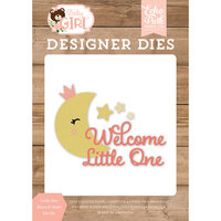 Echo Park - Baby Girl Collection - Decorative Dies - Little One Moon and Stars