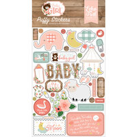 Echo Park - Baby Girl Collection - Puffy Stickers