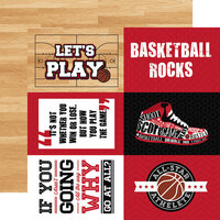 Echo Park - Basketball Collection - 12 x 12 Double Sided Paper - 4 x 6 Journaling Cards