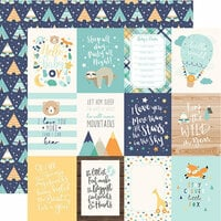 Echo Park - Hello Baby Boy Collection - 12 x 12 Double Sided Paper - 3 x 4 Journaling Cards