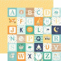 Echo Park - Hello Baby Boy Collection - 12 x 12 Double Sided Paper - Boy Alphabet Blocks