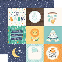 Echo Park - Hello Baby Boy Collection - 12 x 12 Double Sided Paper - 4 x 4 Journaling Cards