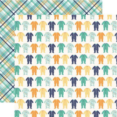 Echo Park - Hello Baby Boy Collection - 12 x 12 Double Sided Paper - Sleepers