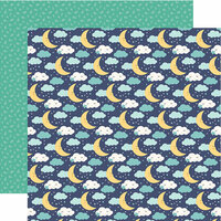 Echo Park - Hello Baby Boy Collection - 12 x 12 Double Sided Paper - Starry Night