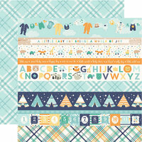 Echo Park - Hello Baby Boy Collection - 12 x 12 Double Sided Paper - Border Strips