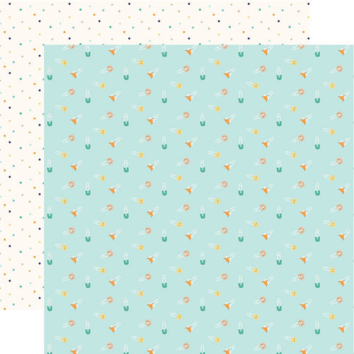 Echo Park - Hello Baby Boy Collection - 12 x 12 Double Sided Paper - Boy Diaper Pins