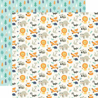 Echo Park - Hello Baby Boy Collection - 12 x 12 Double Sided Paper - Little Wild Ones