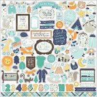 Echo Park - Hello Baby Boy Collection - 12 x 12 Cardstock Stickers - Elements