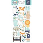 Echo Park - Hello Baby Boy Collection - Chipboard Stickers - Accents