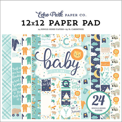 Echo Park - Hello Baby Boy Collection - 12 x 12 Paper Pad