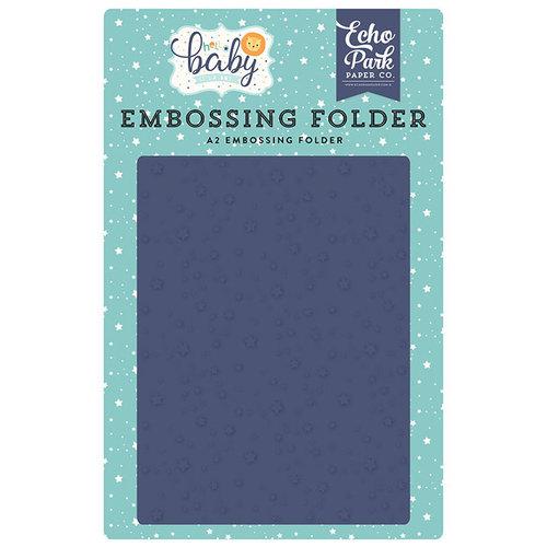 Echo Park - Hello Baby Boy Collection - Embossing Folder - Shining Stars