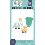 Echo Park - Hello Baby Boy Collection - Designer Dies - Baby Icons